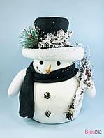 Декоративный Снеговик декор на Новый год 30 см