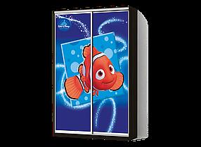 Шкаф-Купе Двухдверный Классик-4 Фотопечать Ds023, ДСП Венге (Luxe-Studio TM)