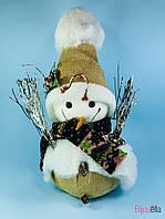 Декоративный Снеговик в шляпе на Новый год декоративная фигурка