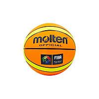 Мяч баскетбольный резиновый №7 MOL, фото 1