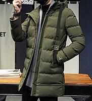Мужской зимний пуховик. Модель 8202., фото 4