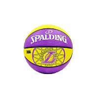 Мяч баскетбольный резиновый №7 Molten NBA Team Lakers, фото 1