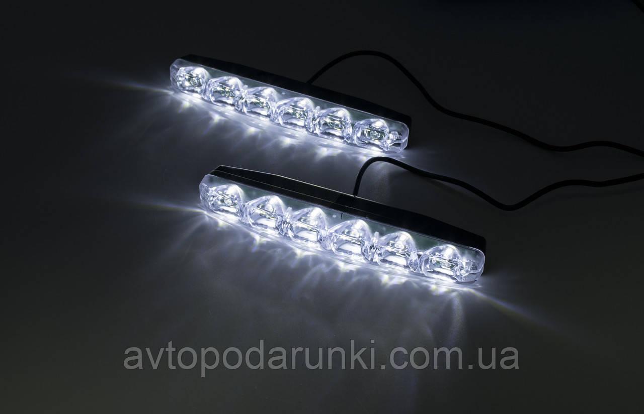 """LED DRL """"GLED 4014CHIP"""" (Белый ДХО/Желтый Бегущий поворот)/12v/6w/600LM"""