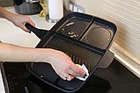 Пятисекционная сковорода iQuick 30x38 см Black-Grey (n-437), фото 6