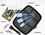 Пятисекционная сковорода iQuick 30x38 см Black-Grey (n-437), фото 2