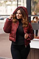 Женская куртка оверсайз Lipar Бордовая 50