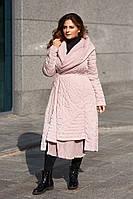 Женский плащ демисезон жатка розовый большие размеры
