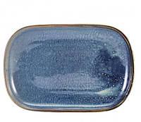 Блюдо прямоугольное 24x16.5 см, Terra Porcelain Aqua Blue