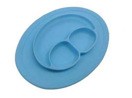 Силиконовая тарелка (голубой) 139