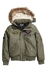 Куртка                         H&M                         164 (13-14 y)                         Зеленая                         (05964430072)