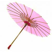 Зонт бамбук с бумагой малиновый (d-30 см h-23 см) ( 32748B)