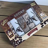 Набор вафельных полотенец с вышивкой ADORN Coffee 35*50см