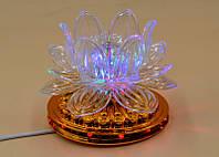 Разноцветный вращающийся светильник «Лотос» 0317