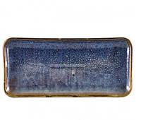 Блюдо прямоугольное 27х12,5 см, Terra Porcelain Aqua Blue
