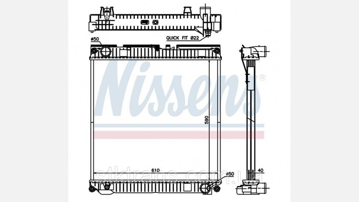 Радиатор без рамы MAN TGL (590 x 609 x 40) - NIS67224A