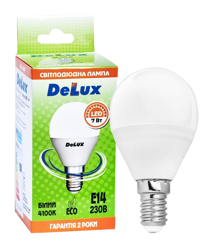 Лампа світлодіодна DELUX BL50P 7Вт 4100K 220В E14