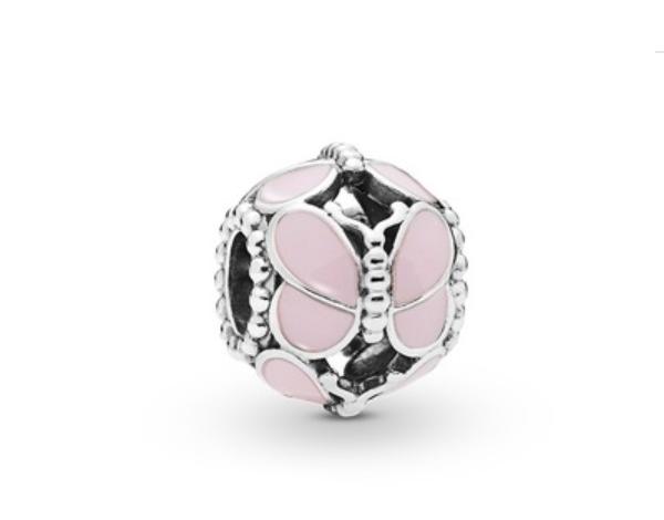 Шарм бусина серебро Бабочка подвеска для браслета Pandora Пандора серебряная
