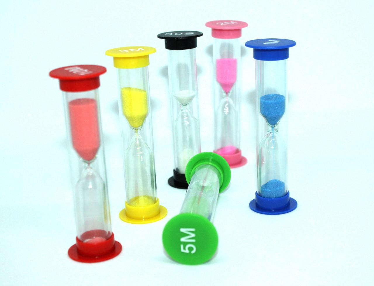 Набір годинників пісочних (30с,1,3,5,10 хв) для кабінету хімії