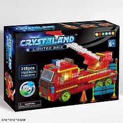 """Конструктор """"Crystalend"""" 318 деталей, светящийся, 99031"""
