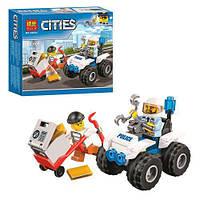 Конструктор BELA, город, полиция, транспорт, фигурки, 59 деталей, 10652