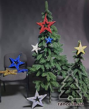 Звезда из пенопласта с присыпкой 20 см  синяя, фото 2