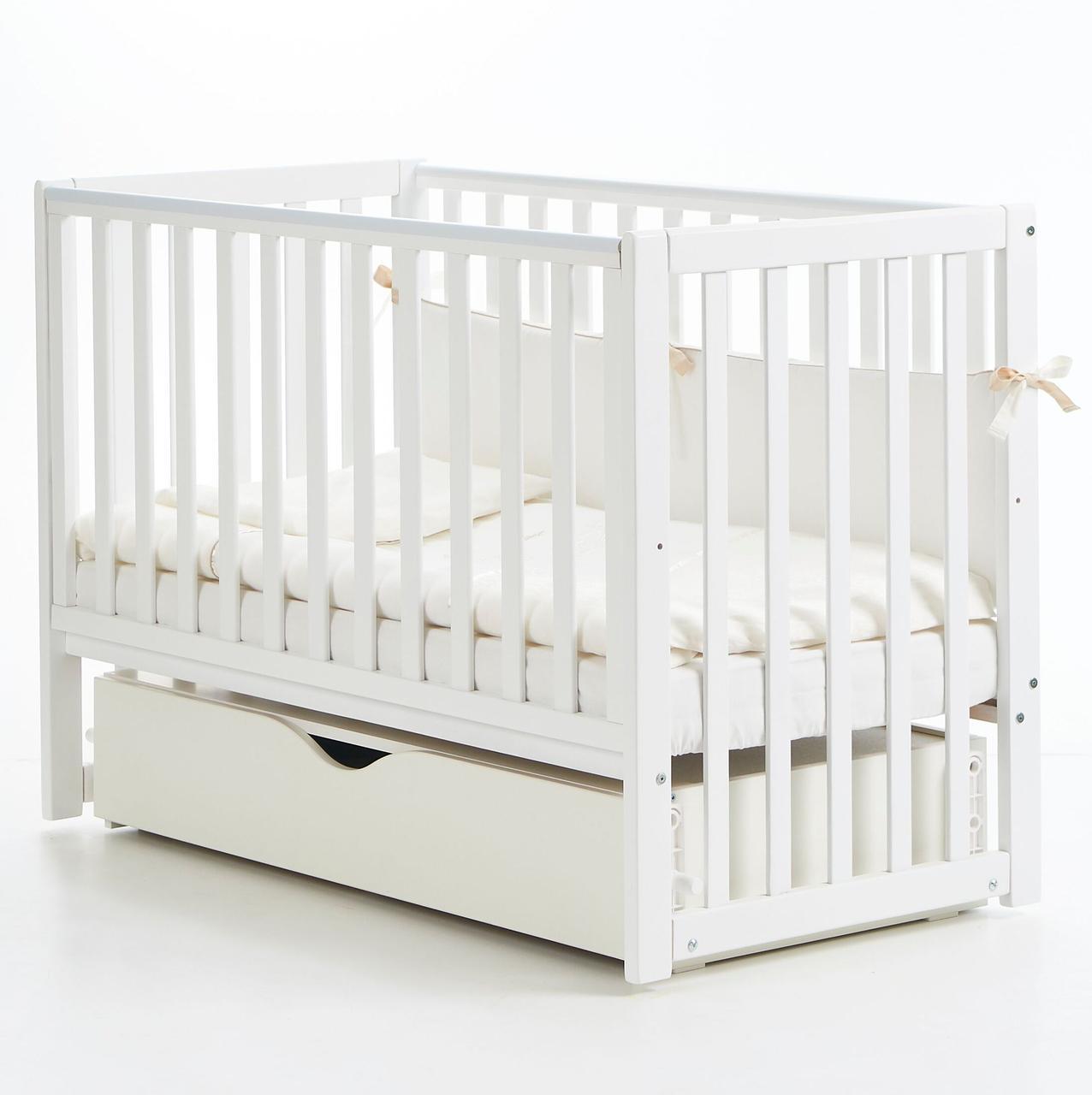 Детская кроватка Верес Соня ЛД 13 Белый маятник с ящиком