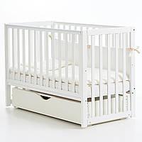 Детская кроватка Верес Соня ЛД 13 Белый маятник с ящиком, фото 1