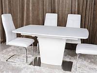 Стол обеденный CHICAGO (120(+40)*80*76) белый, фото 1