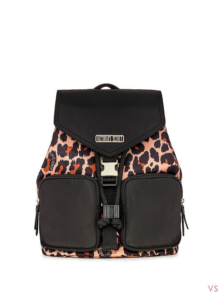 Рюкзак Victoria Secret, оригинал! LEOPARD MIX FLAP