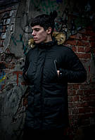 Мужская зимняя парка черная HotWint Intruder с мехом