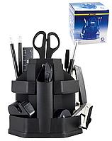Настольный набор на 16 предметов крутящийся черный BM.6302 Buromax