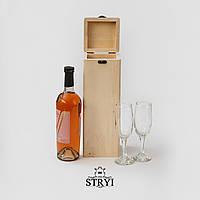 Шкатулка (заготовка) под вино вертикальная для резьбы по дереву