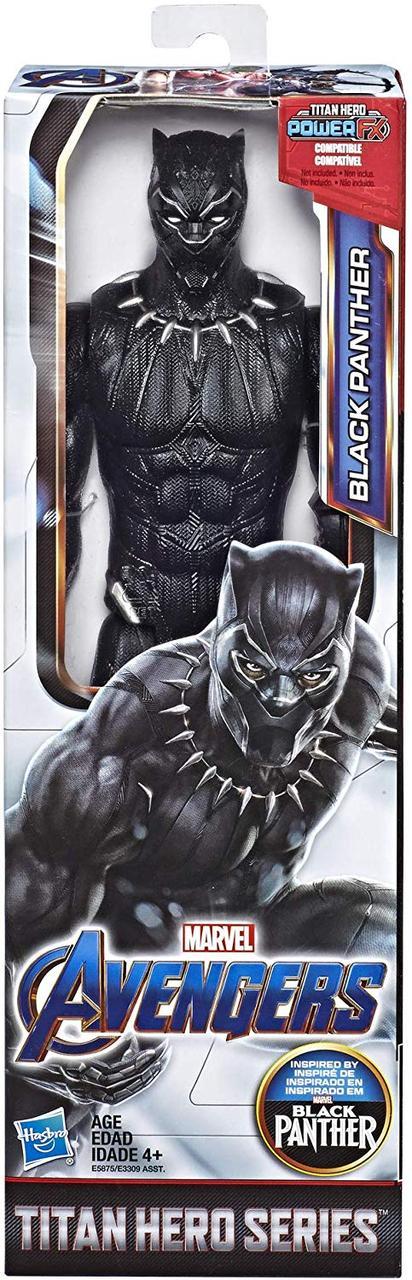 Герой Марвел Чёрная пантера 30 см Серия Титаны. Avengers Marvel Endgame Titan Hero Black Panther