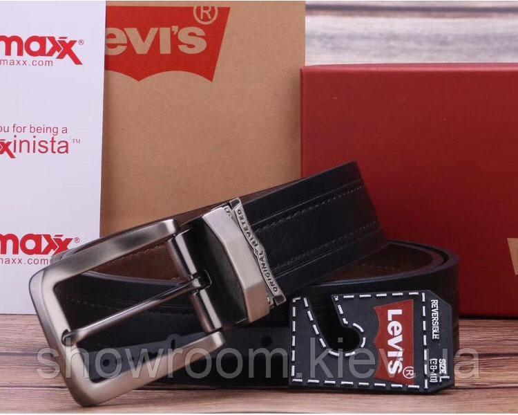 Двусторонний кожаный ремень Levis (515) подарочная упаковка