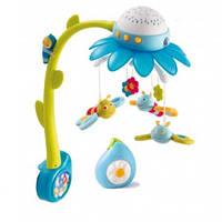 Мобиль с проектором на детскую кроватку - Цветочек (голубой) Cotoons, Smoby +0 (110110N)