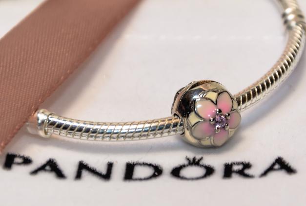 Бусина шарм серебро Цветок подвеска для браслета Pandora Пандора серебряная