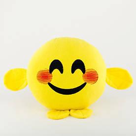 Подушка Смайл УЛЫБКА желтый флок