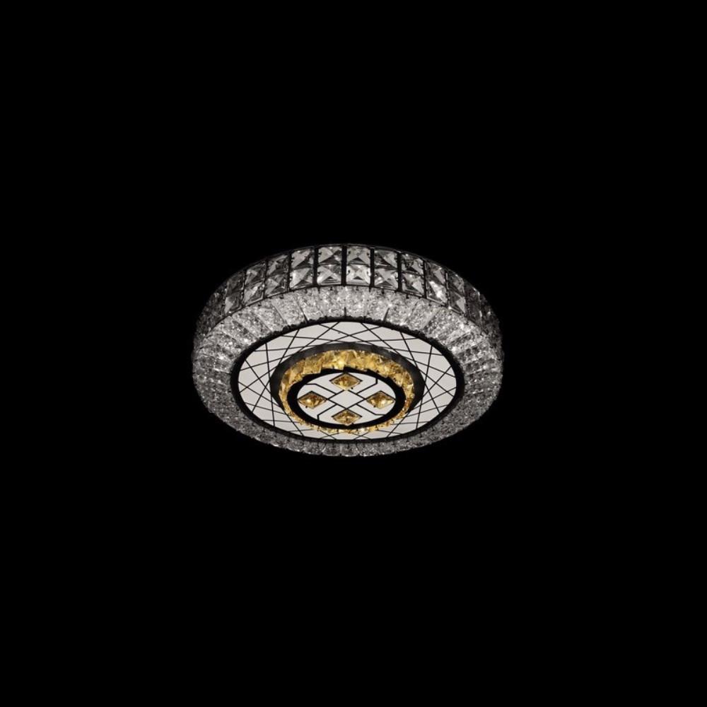 Круглая светодиодная люстра СветМира хром 90 Вт LS-2168-3/500