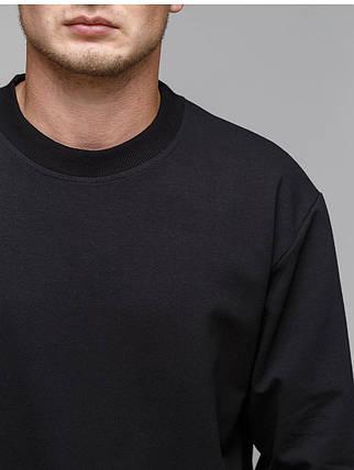 Свитшот мужской, цвет чёрный, фото 2