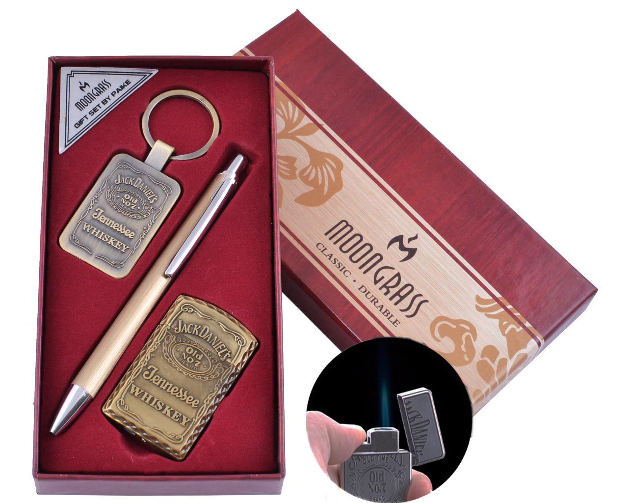 Подарочный набор с ручкой, зажигалка и брелком для ключей Moongrass 3в1