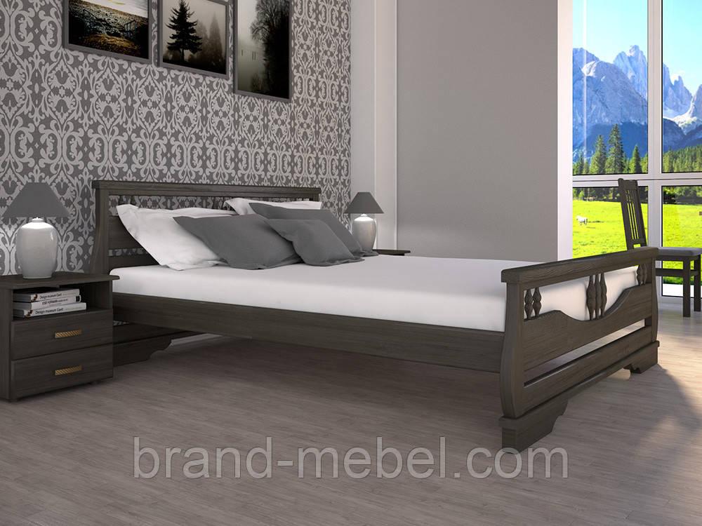 Дерев'яне ліжко двоспальне Атлант 3 / Деревянная кровать двуспальная Атлант 3