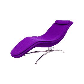 Шезлонг Rocking / Рокинг шерсть Фиолетовая (CoolArt-TM)