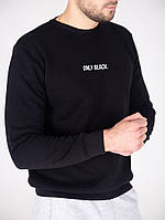 Мужской утепленный свитшот черный only black