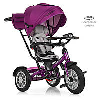 Велосипед детский трехколесный TurboTrike М 4057-8 поворотный со светом Гарантия качества Быстрая доставка