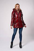 Женская молодежная зимняя куртка. Код модели К-150-71-20. Цвет бордо.