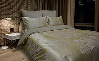"""Красивый семейный комплект постельного белья из сатина жаккард """"Золото"""""""
