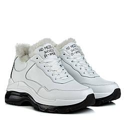 Кроссовки женские DITAS (зимние, кожаные, белого цвета)