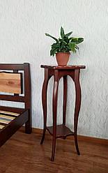 """Напольная стойка для цветов из массива натурального дерева """"Азалия"""" (итальянский орех)"""