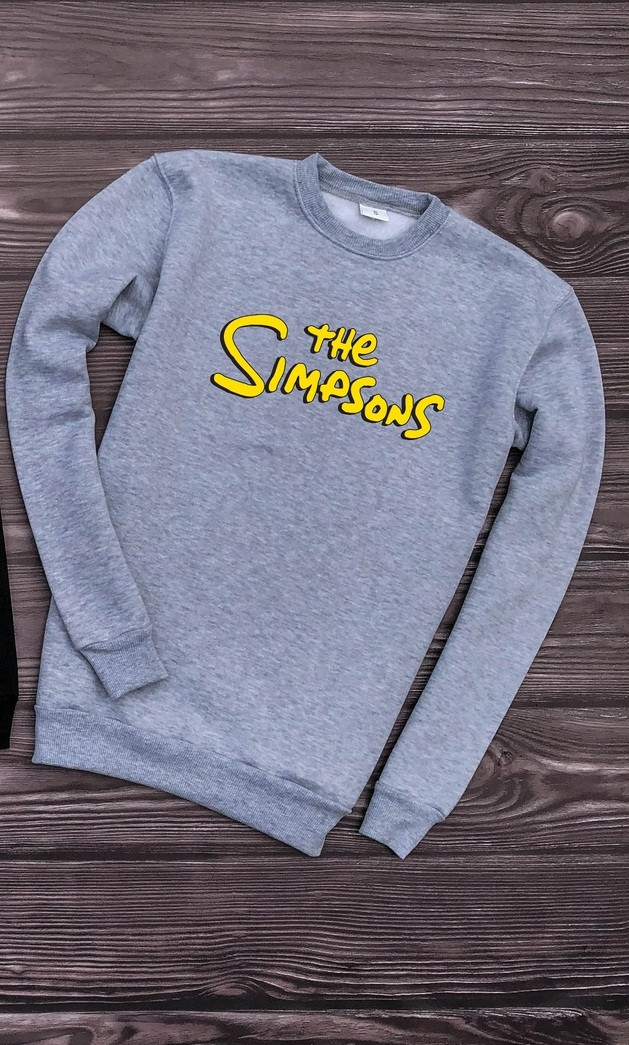 Мужской свитшот серый The Simpsons