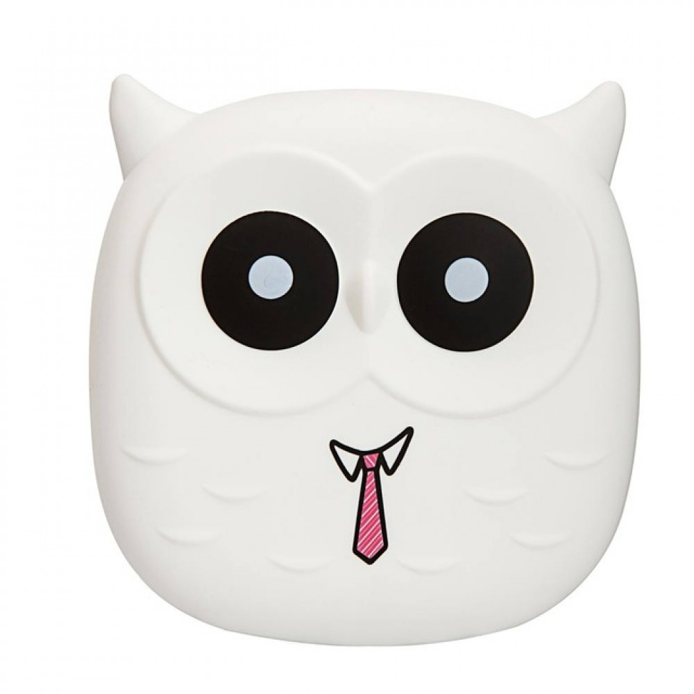 Power Bank Owl Blue 6000mАh USB 2x1A Белая